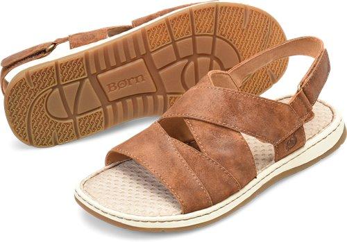 8bf641a78bf8 Born Shell in Tobacco Distressed - Born Mens Sandals on Bornshoes.com