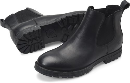 Born Pike in Black - Born Mens Boots on