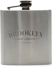 Brooklyn Boot Company Flask  in Silver