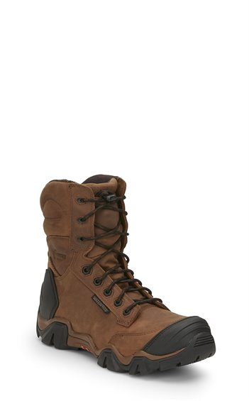 "Image for 8"" ATLAS W/P BROWN NANO COMP TOE boot; Style# 50013"