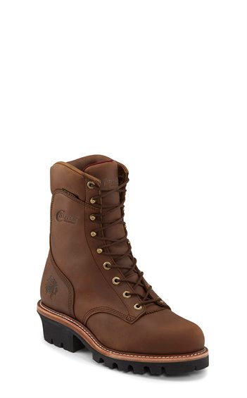 "Image for 9"" TAN WATERPROOF INS STEEL TOE LACE UP boot; Style# 59405"