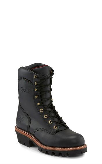 "Image for 9""BLACK WATERPROOF INS STEEL TOE LACE UP boot; Style# 59410"