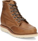 Chippewa Boots 6 Tan Baldwin Mocc Toe Lace Up in Tan