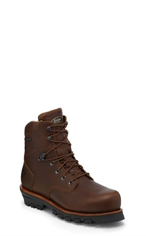 Brown Chippewa Boots 7 Honcho W/P Comp Toe Lace Up