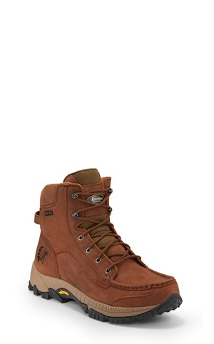 Brown Chippewa Boots 6 Searcher Ii W/P Moc Toe Lace Up
