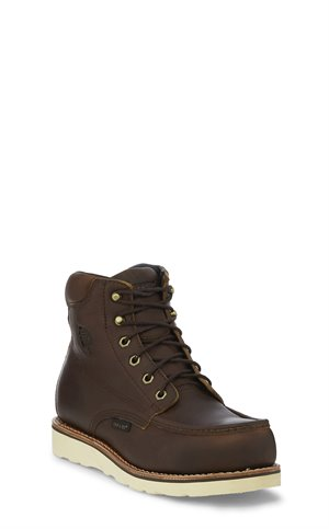 Brown Chippewa Boots 6 Edge Walker W/P Comp Toe Lace Up
