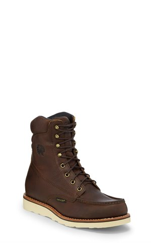 Brown Chippewa Boots 8 Edge Walker W/P Moc Toe Lace Up