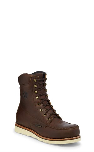 Brown Chippewa Boots 8 Edge Walker W/P Comp Toe Lace Up