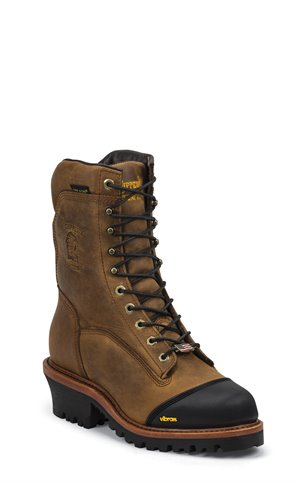 Brown Chippewa Boots Grimstad Golden Ins Waterproof Comp Toe