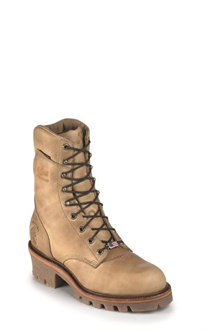 Beige Apache Chippewa Boots Magor