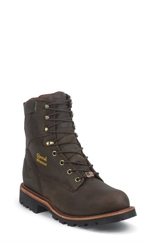 BROWNS Chippewa Boots BAY APACHE WATERPROOF STEEL 8 WATERPROOF INSULATED LACE UP