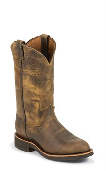Golden Sand Chippewa Boots Soronto Sand Round Toe