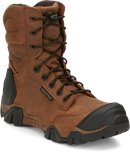 Chippewa Boots 8 Cross Terrain W/P Brown Nano Comp Toe in Brown
