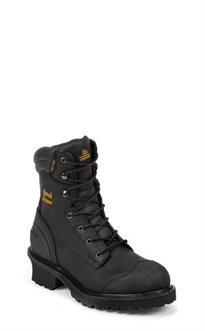 Black Chippewa Boots Aldarion Insulated WP