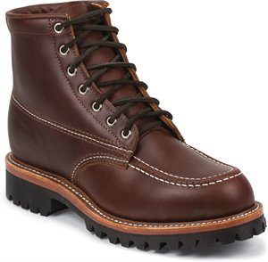 Medium Brown Chippewa Boots Fengal Tan