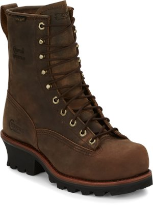 BROWNS Chippewa Boots BAY APACHE WATERPROOF PLAIN/STEEL 8 WATERPROOF LACE TO TOE