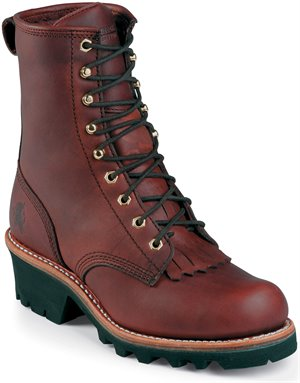 Oiled Redwood Chippewa Boots Tinsley