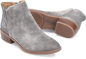 Steel Grey Suede Comfortiva Carrie