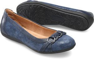 Navy Suede Comfortiva Maloree