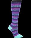 Compression Socks in Fun Stripes Purple