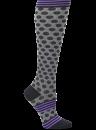 Compression Socks in Sporty Dot Black