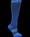 Compression Socks in Sporty Dot Blue