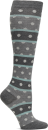 Compression Socks in Striped Heather Dot