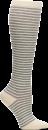 Compression Socks in Coconut Heather Pinstripe