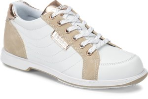 White Nubuck Rose Gold Dexter Bowling Groove IV