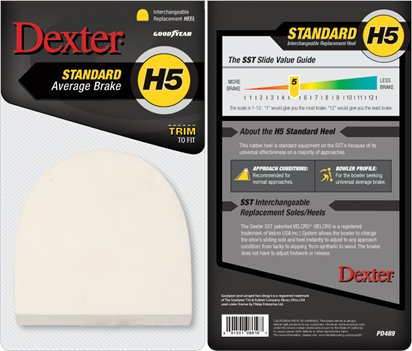 White/Rubber Dexter Accessories h5 Replacement Heel