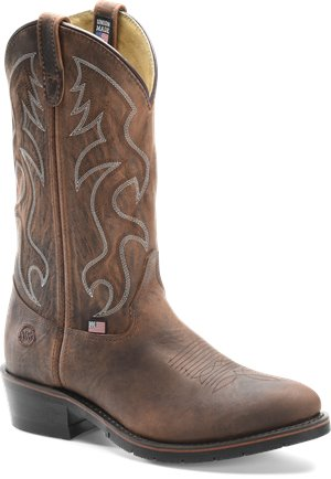 Brown Double H Boot 12 Inch ST AG7 Work Western