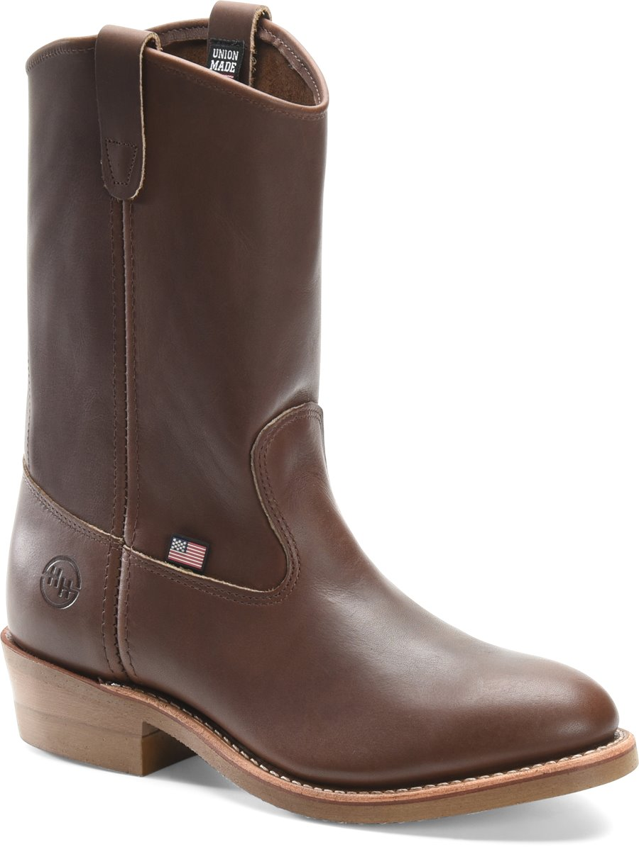 Double H Boot 10 Inch Steel Toe Ranch Wellington : Dark  Oil Tan - Mens