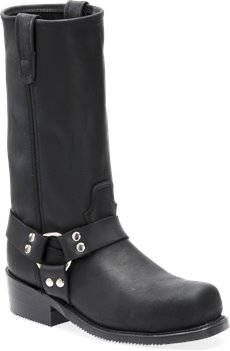 Black Double H Boot 12 Inch Domestic ST Harness Boot