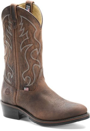 Brown Double H Boot 12 Inch AG7 Work Western