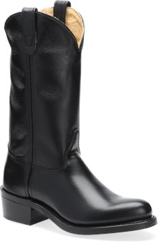 Smooth Black Uniform Double H Boot 12 Inch Work Western
