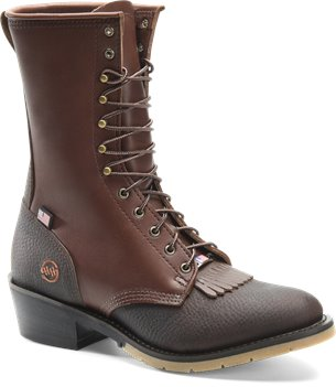 Brown Double H Boot 10 Inch Packer