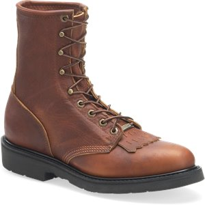 Lite Tobacco Double H Boot 8 Inch Work Lacer