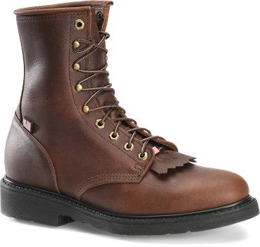 Walnut Double H Boot 8 Inch Work Lacer