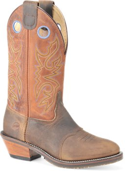 Tan/Copper Crazyhorse Double H Boot 13 Inch Work Western