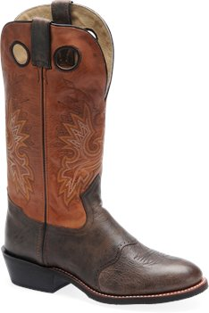 Chocolate/Burnt Orange Double H Boot 14 Inch Deep Dip Buckaroo