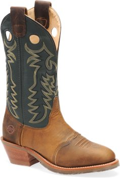 Medium Brown Double H Boot 12 Inch Domestic Buckaroo