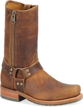 Brown Double H Boot 11 Inch ICE Harness Boot with Zipper
