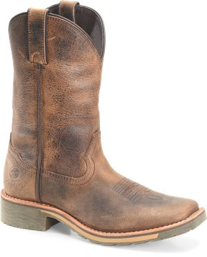 Buffalo Jungle Leather Double H Boot Trinity 10 Inch Mayflex Wide Square Toe Roper