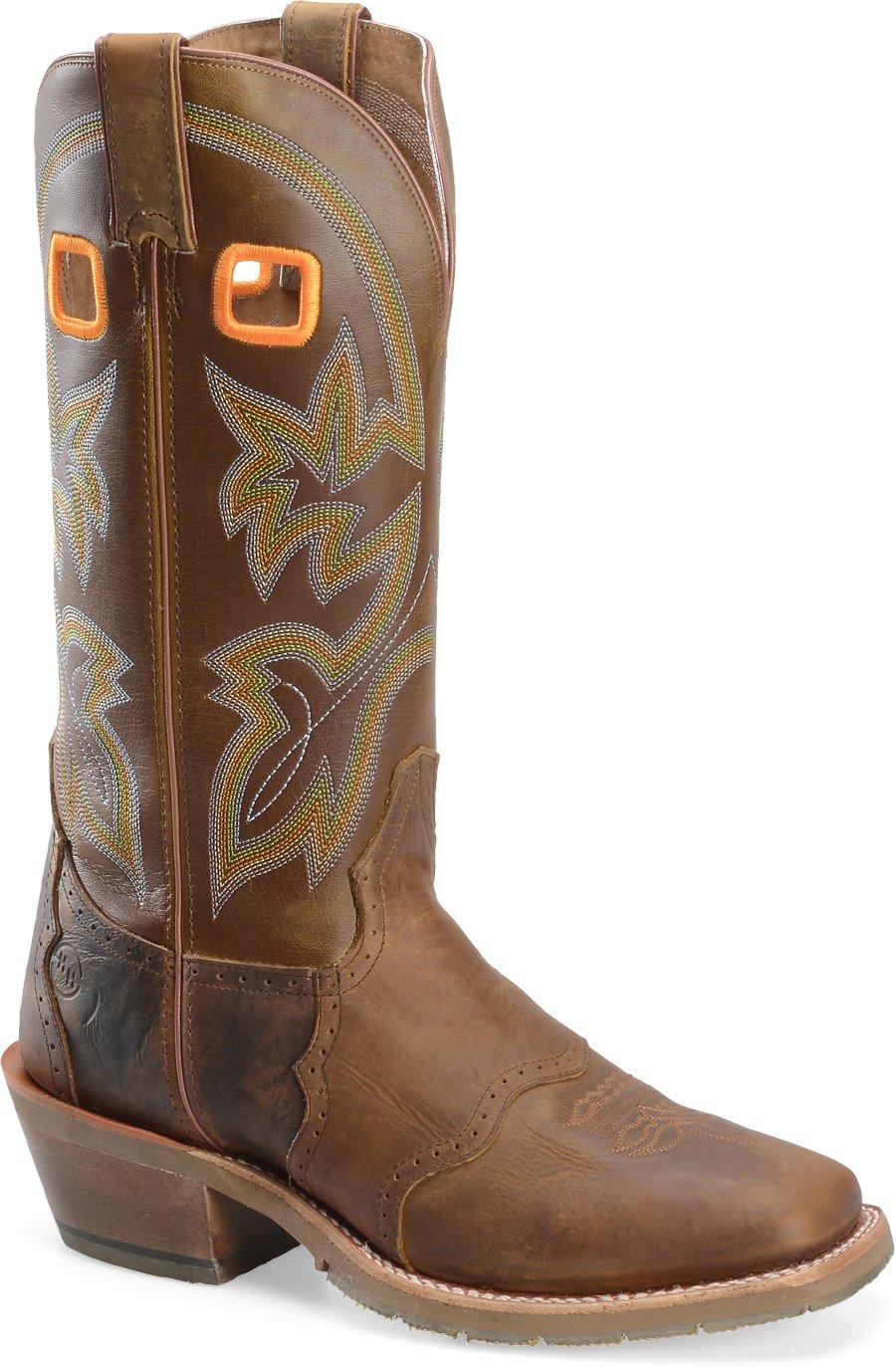 Double H Boot 14 Inch Work Western Buckaroo In Dark Beige