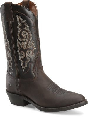 Medium Brown Double H Boot 12 Inch Work Western