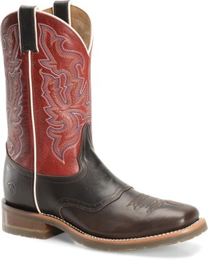 Dark Espresso Ruby Double H Boot 11 Wide Square Toe