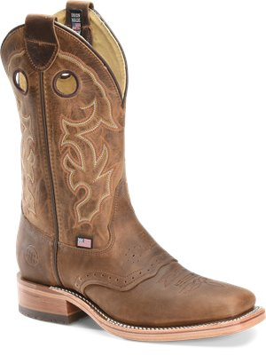 Light Brown Double H Boot 12 Inch Wide Square Old Town Roper