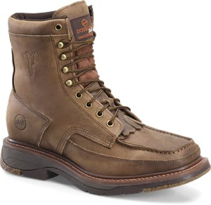 Brown Dark Olive Double H Boot 8In Mocc Toc Buster