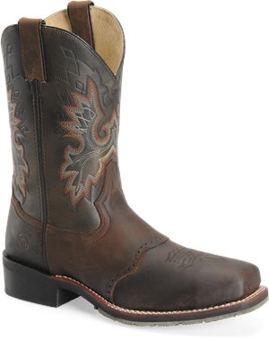 "Tan Crazy Horse Double H Boot 11"" Square Steel Toe"