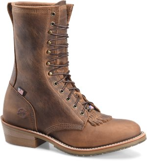 Light Brown Double H Boot Mens 10 In ST Packer Old Town Folklore